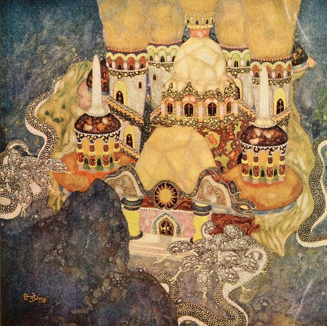 "Edmund Dulac - 'The Palace of the Dragon King"" from Fairy Tales of the Allied Nations"