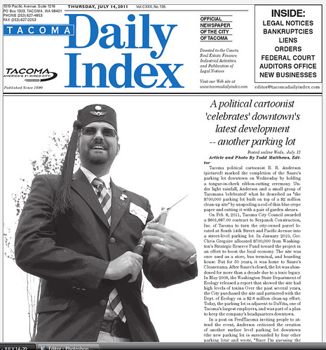 Tacoma Daily Index front page ALT cover