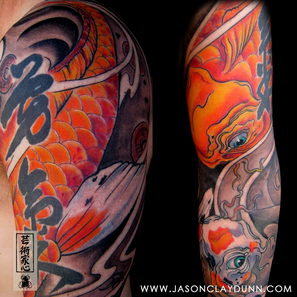 The world 39 s newest photos of carp and sleeve flickr hive for Japanese carp tattoo