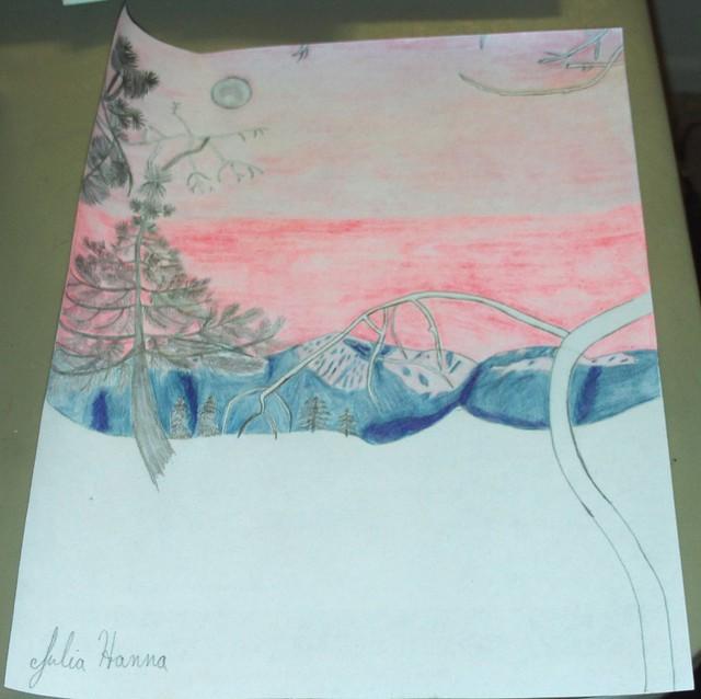 Forest Sunset Sketch: Part 6