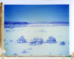 Salton Sea, CA (moominsean) Tags: california polaroid desert salt dry brine 190 saltonsea type108 expired012000
