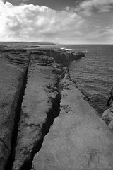 Triangles (Volker Becker) Tags: ireland sea bw seascape rock burren coclare liscannorbay