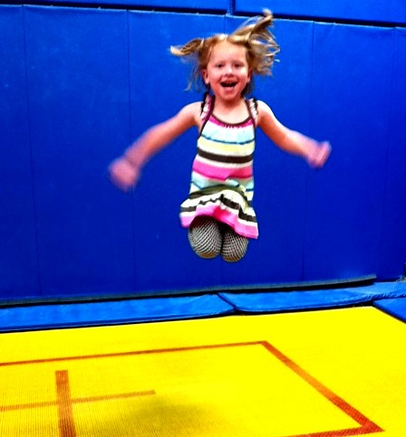 Gymnastics at Kai's birthday party by markandmandy