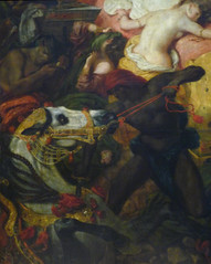 Delacroix, The Death of Sardanapalus with detail of horse