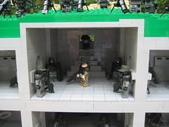 Command Bunker (*Nobodycares*) Tags: world 2 cliff trooper beach soldier weird amazing war lego wwii attack assault bunker ii hazel ama tiny ww2 guns armory normandy dday isa kz helghast killzone tactical uas sheaths brickarms aww2 sluban brickforge mmcb kz3 kz2 minifigcat tinytactical awwii toys711