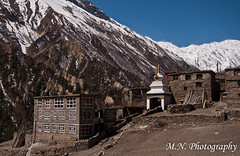 The gate of the tiny, remote, and altitudely of Khangstar village (Meir Naamat) Tags: nepal mountains ice temple village view himalaya  guesthouse tilicho    aroundannapurnatrack totilicho khangstar over7000