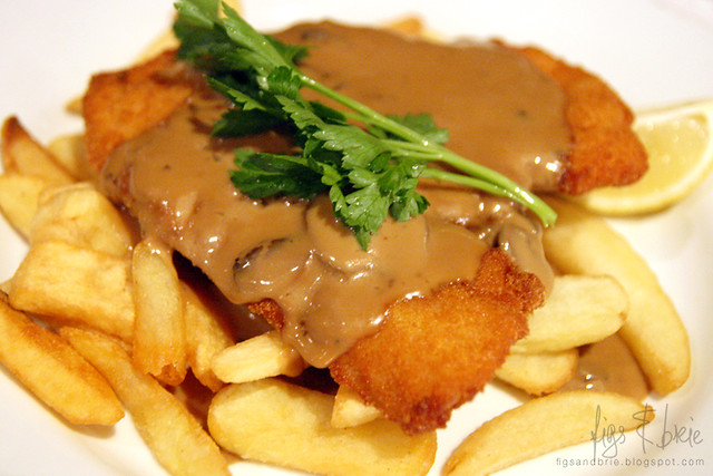 Chicken Schnitzel, St James Hotel