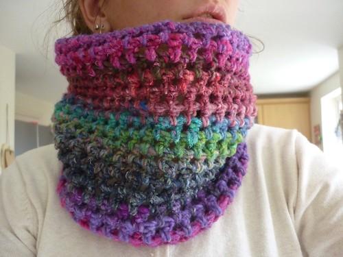 Chunky crochet shrug