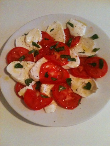 Good old mozzarella and tomato salad