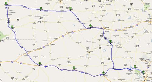 SaddleSore 1000 Route