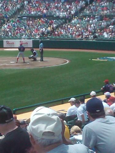 Shane Victorino at bat Reading Phills