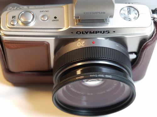 LUMIX G 20mm F1.7 Asph. + マルミ ステップアップリング + マルミ DHG スタークロス