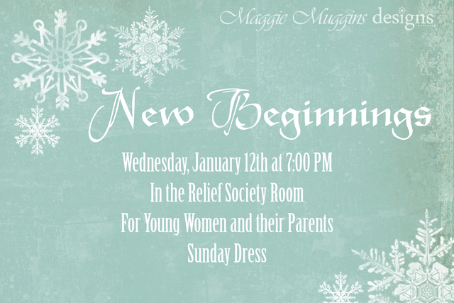 New Beginnings Invitation