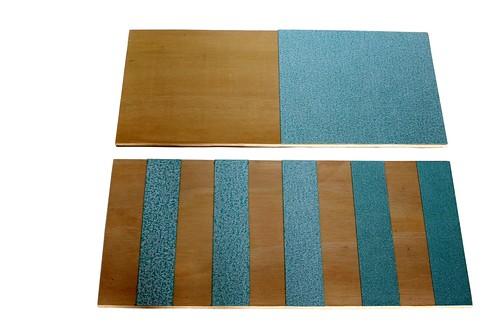 Planches lisses et rugueuses Montessori
