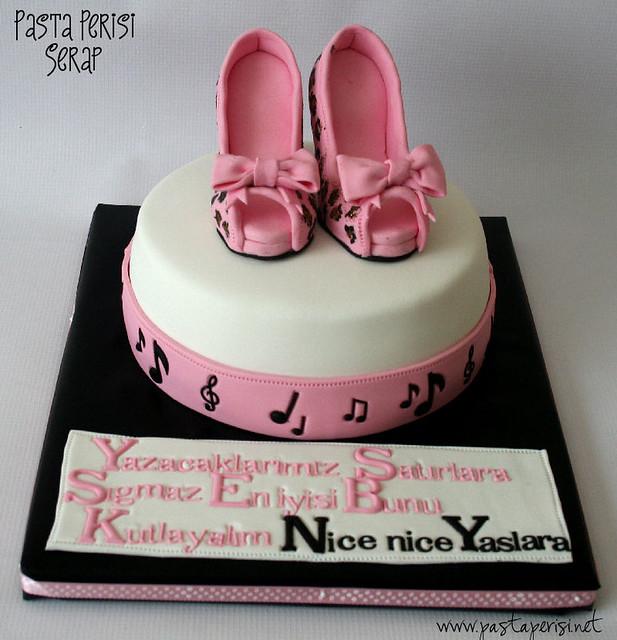 Pink Leopard Shoe Cake