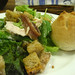 Caeser salad and bread roll