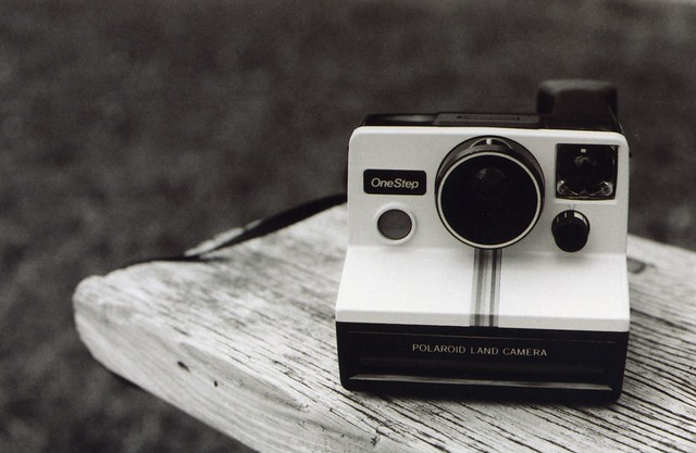 b&w Polaroid Land