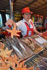 Starfish anyone? (andrewyeoh76) Tags: china street people food interesting starfish beijing exotic vendor streetfood exoticfood donghuamen