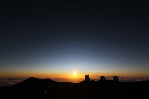 マウナケア山頂の夕日