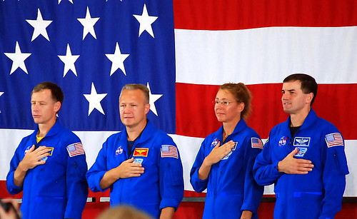 Last NASA astronauts STS-135 crew portrait taken today Houston TX 7-22-2011