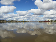 Lake Burley Griffin, Canberra (Anna 666) Tags: bridge lake water clouds reflections scenery view nationalgallery canberra carillion lakeburleygriffin