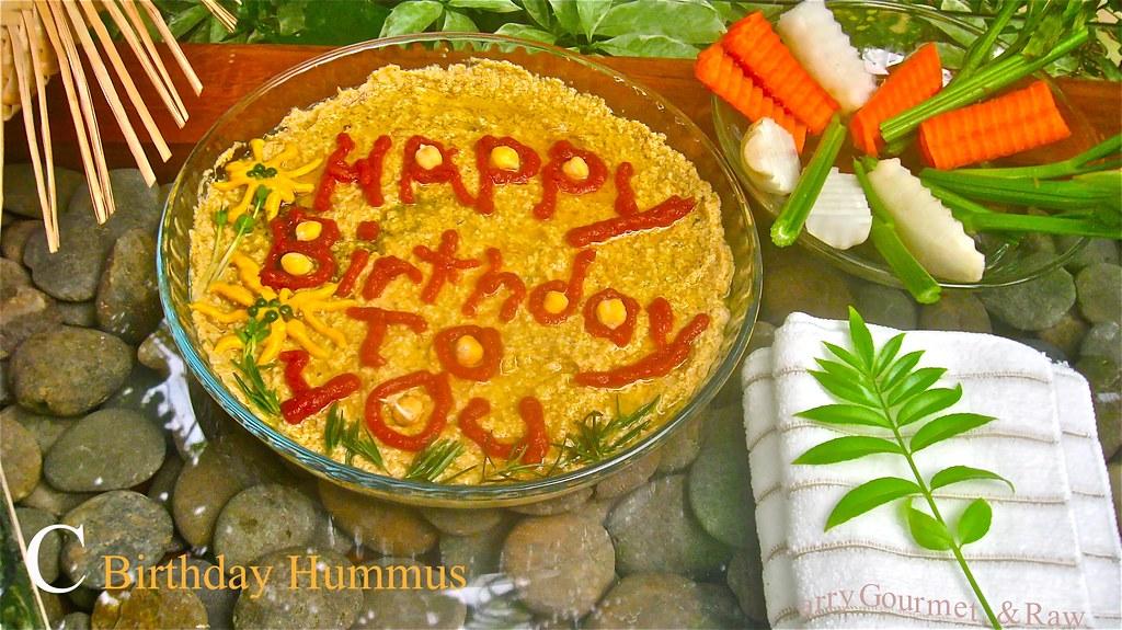 Hummus Birthday Surprise Dip