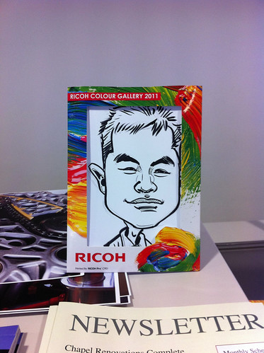 Caricature live sketching for Ricoh Roadshow - f