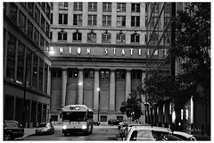 Reign In Your Instincts (swanksalot) Tags: blackandwhite bw chicago bus union unionstation westloop faved