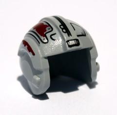 Ani's Podracing helmet uses the Rebel Helmet, in silver, with custom printing