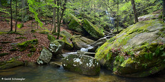 Burden Falls Panorama (schwaegler) Tags: waterfall illinois spring il harrisburg shawneenationalforest burdenfalls