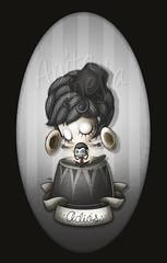 Adis (Anita Mejia) Tags: girl illustration drawing goodbye dibujo ilustracion chango adios simio platillos cymbalmonkey chocolatita anitamejia
