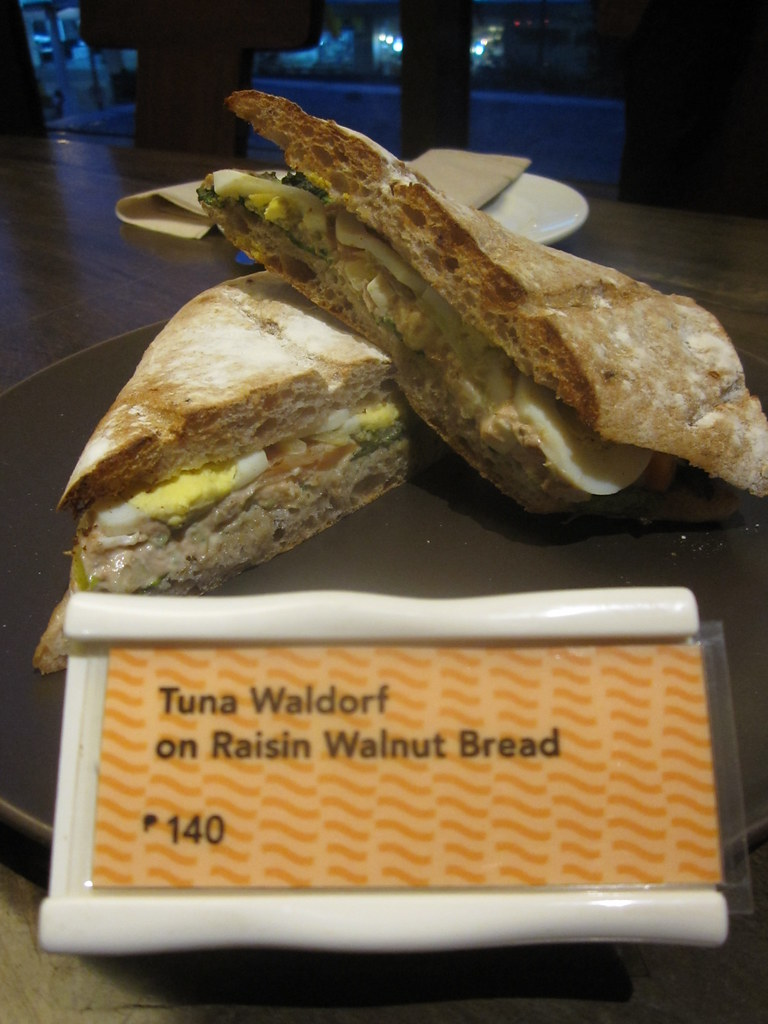 Tuna Waldorf on Raisin Walnut Bread