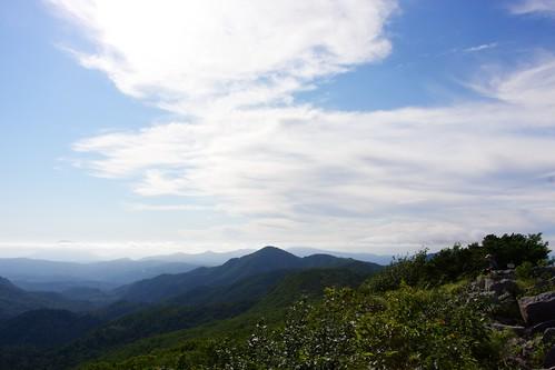 空沼岳山頂から後方羊蹄山まで