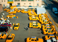 Taxi Depot in Miniature (PM Breakfast) Tags: nyc newyorkcity hot miniature taxi wheels shift queens cabs tilt matchbox odc tiltshift yellowcabs explored smallgantics d700 nikond700 ourdailychallenge