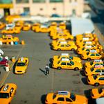 Taxi Depot in Miniature