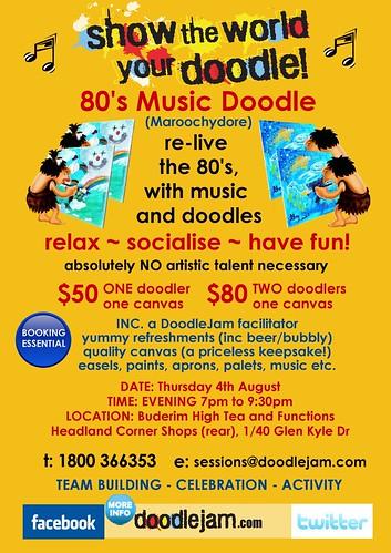 80s Music DoodleJam Buderim