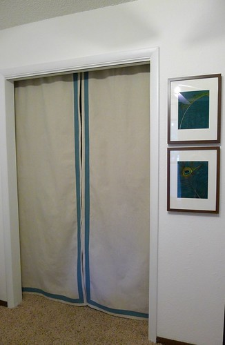 Painted Guest Room Curtains