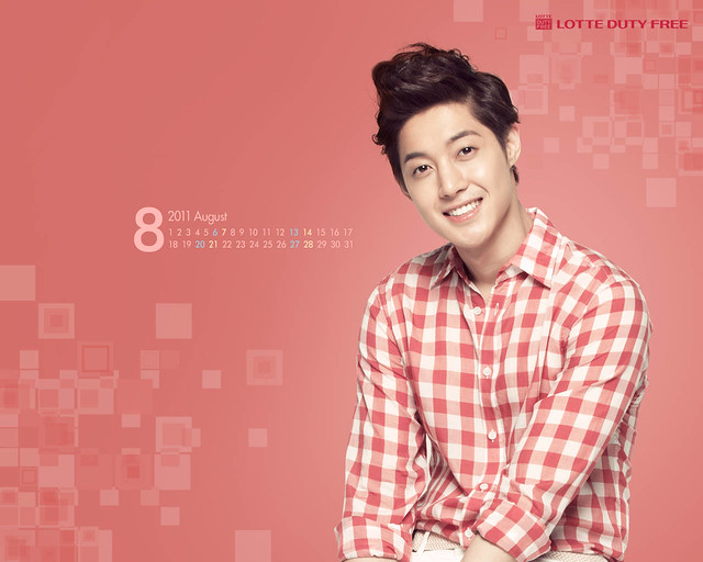 Kim Hyun Joong Lotte Duty Free August Calendar Wallpapers