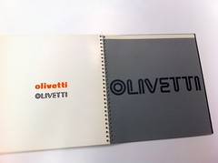 Walter Ballmer, book of Olivetti marks, 1971 (Herb Lubalin Study Center) Tags: archive lubalincenter