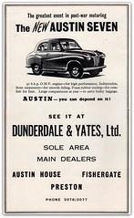 Dunderdale & Yates, Ltd., Austin House, Fishergate, Preston. (Preston Digital Archive) Tags: austin seven
