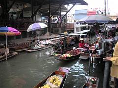 水上マーケット 人気のダムヌンサドアク観光(海外の市場のオプショナルツアー)