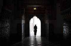 Light The Way (TheFella) Tags: africa door light shadow woman slr girl silhouette digital photoshop canon walking person eos photo high arch floor dynamic northafrica unescoworldheritagesite unesco doorway morocco tiles photograph figure processing marrakech maghreb lone 5d archway dslr range hdr highdynamicrange markii postprocessing photomatix kingdomofmorocco 5dmarkii