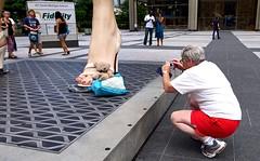 Teddy & Marilyn Monroe (shrosa814 (returning soon)) Tags: marilynmonroe streetscene installation teddybear publicart ricoh chicagoil chicagoist grdiii nbcplaza ricohgrdiii womantakingpictureof