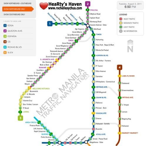 metro manila traffic navigator system view
