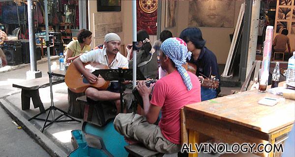The art zone in Chatuchak Market