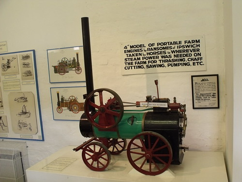Holkham Hall - The History of Farming Exhibition - scale model of a Ransomes, Sims & Jeffries (Ipswich) portable engine