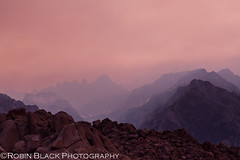 Pink Monsoon (Mt. Whitney sunset, Eastern Sierra) (Robin Black Photography) Tags: pink sunset color silhouette misty colorful ngc stormy explore monsoon tropical layers thunderstorm sierras mtwhitney hazy sierranevada hwy395 lonepine johnmuir naturesbest highsierra nationalgeographic owensvalley flashflood whitneyportal highway395 alabamahills movieroad violentweather clearingstorm purplemountainsmajesty explored rangeoflight outdoorphotographer sierracrest monsoonalmoisture canon5dmarkii robinblackphotography whitneycrest