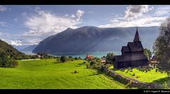 Urnes (vegarste) Tags: panorama church norway norge nikon europe norwegen unesco fjord scandinavia hdr stavechurch stavkirke hugin d90 stiching 3xp stabkirche photomatix sognefjorden tonemapping 3exp