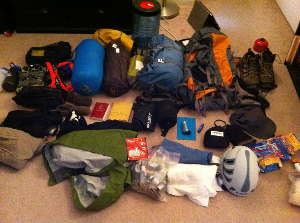 Gear for the Teton trip.