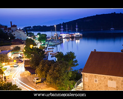 Mljet [Croatia]  Pomena Bay At Night (UrbanMescalero) Tags: street sea vacation seascape reflection night boats lights twilight ship sommer croatia bluehour adriatic watter hrvatska jadran twighlight mljet 2011 pomena canoneos5dmarkii canonef24105lf4isusm mygearandme mygearandmepremium mygearandmebronze mygearandmesilver mygearandmegold gearandmebronze artistoftheyearlevel3 wwwurbanmescalerocom gorankljutic aboveandbeyondlevel1 pomenabay